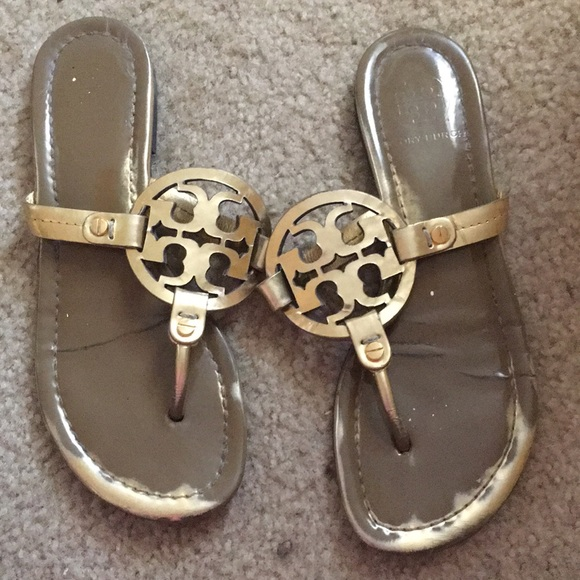 Tory Burch Shoes - Gold Tory Burch miller sandals